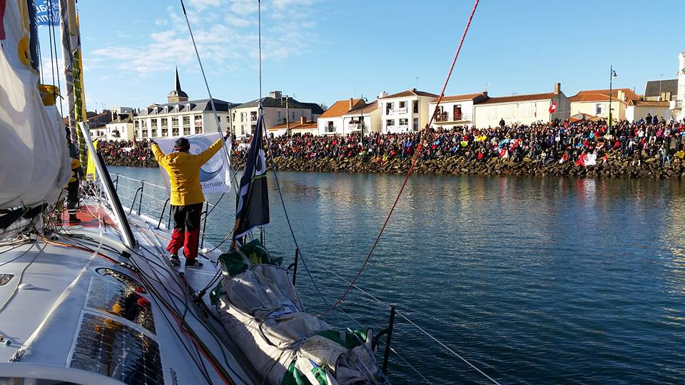 Romain Attanasio au départ du Vendée Globe
